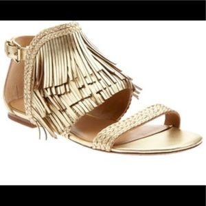 Banana republic gold fringe sandals Tallahassee